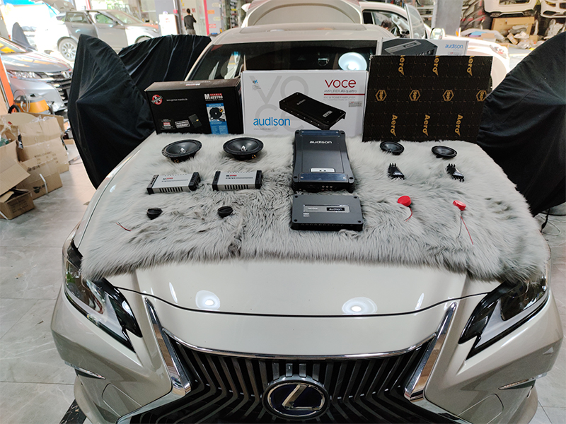 雷克萨斯ES300  音响改装 汽车隔音升级
