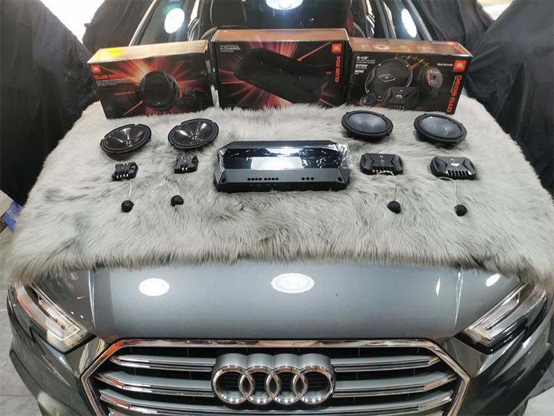 奥迪A3 汽车音响改装升级 隔音升级